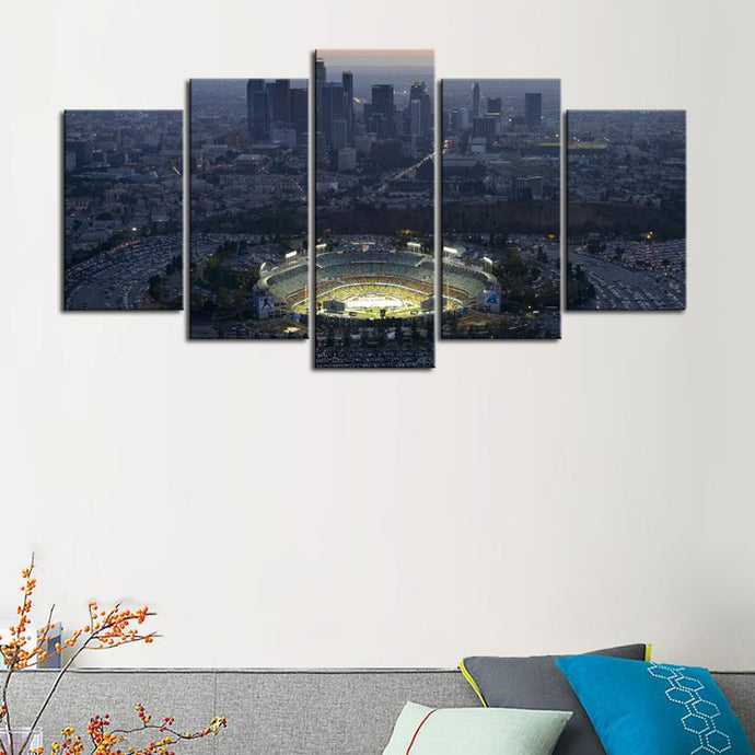 Los Angeles Dodgers Stadium Canvas 5