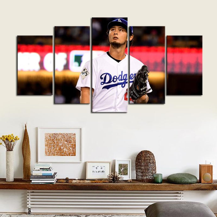 Yu Darvish Los Angeles Dodgers Canvas