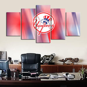 New York Yankees Redish Canvas