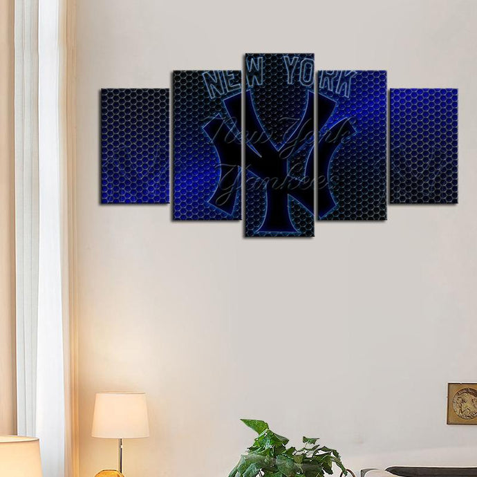 New York Yankees Metal Texture Canvas