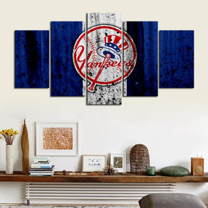 New York Yankees Rough Style Canvas