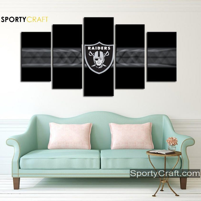 Oakland Raiders Wall Art Canvas
