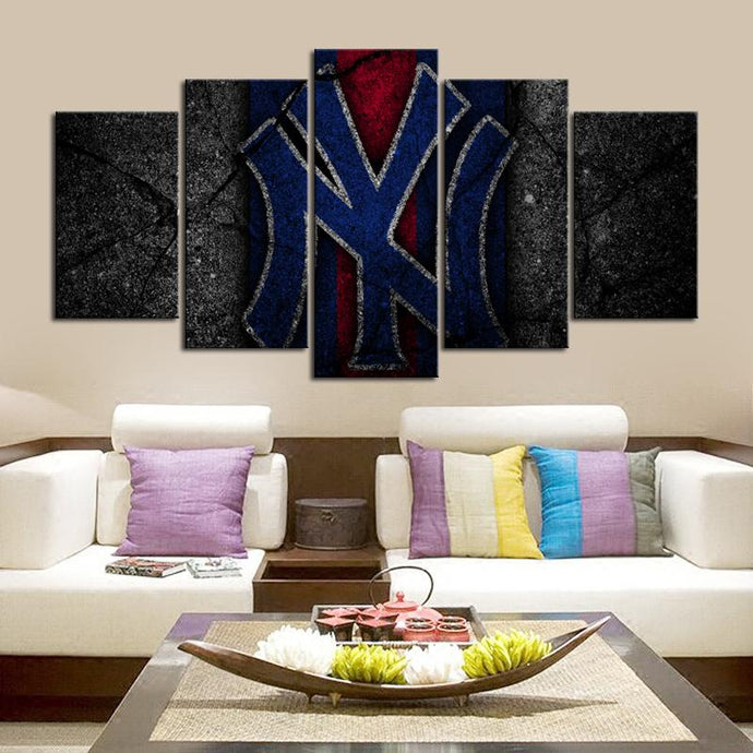 New York Yankees Rock Style Canvas