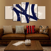 Load image into Gallery viewer, New York Yankees Paint Splash Canvas