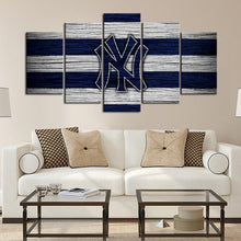 Load image into Gallery viewer, New York Yankees Wooden Look Canvas