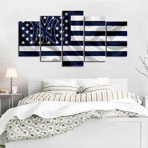 New York Yankees American Flag Canvas