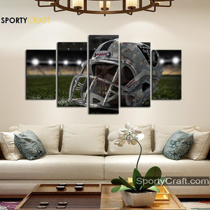 5 Piece Skull Canvas Art Painting