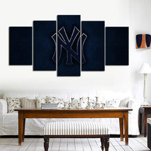 Load image into Gallery viewer, New York Yankees Metal Look Canvas
