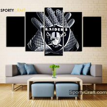 Load image into Gallery viewer, Las Vegas Raiders Gloves Canvas