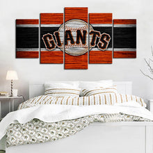 Load image into Gallery viewer, San Francisco Giants Wooden Look Canvas