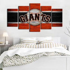 San Francisco Giants Wooden Look Canvas