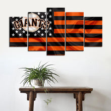 Load image into Gallery viewer, San Francisco Giants American Flag Canvas