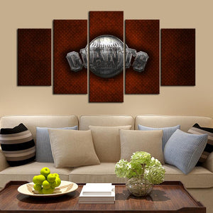 San Francisco Giants Metal Style Canvas
