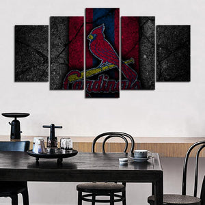 St. Louis Cardinals Rock Style Canvas