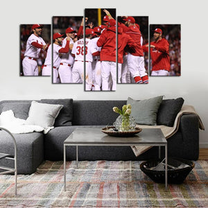 St. Louis Cardinals Team Cheer Up Canvas