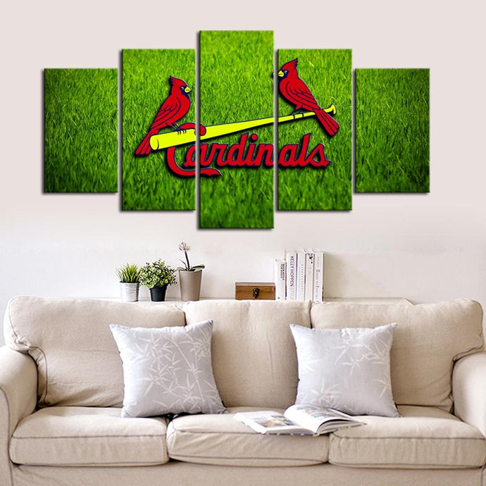 St. Louis Cardinals Grassy Canvas