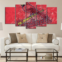 Load image into Gallery viewer, St. Louis Cardinals Diamond Cut Canvas
