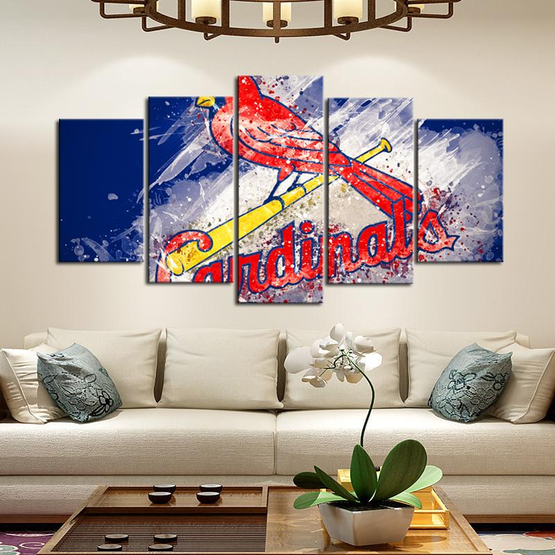 St. Louis Cardinals Paint Splash Canvas