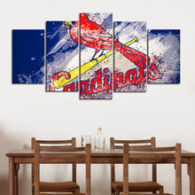 Load image into Gallery viewer, St. Louis Cardinals Paint Splash Canvas