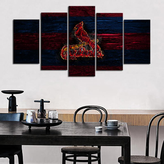 St. Louis Cardinals Burn Out Canvas