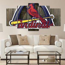 Load image into Gallery viewer, St. Louis Cardinals Wooden Look Canvas