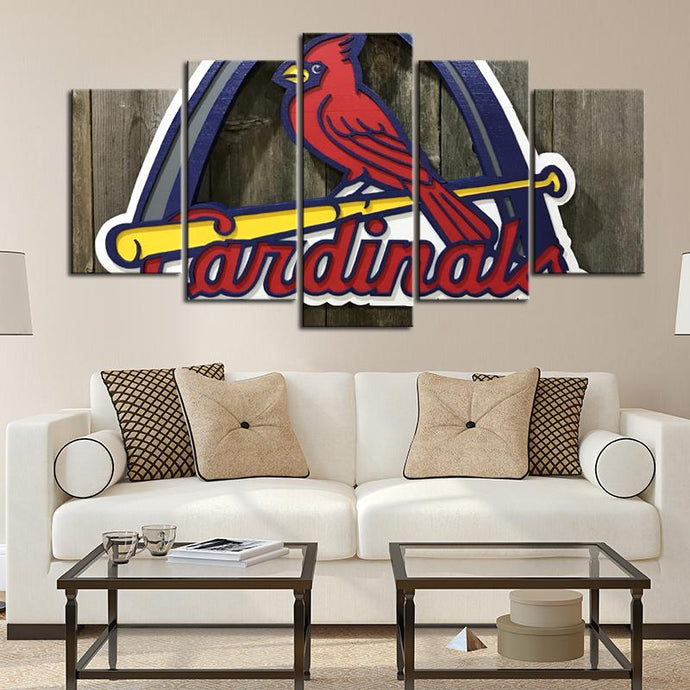St. Louis Cardinals Wooden Look Canvas