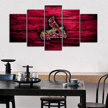 Load image into Gallery viewer, St. Louis Cardinals Wooden Rock Canvas