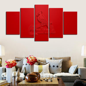 St. Louis Cardinals Embossed Style Canvas