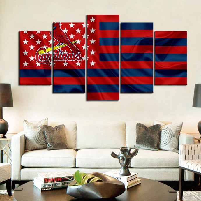 St. Louis Cardinals American Flag Canvas