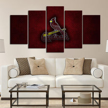 Load image into Gallery viewer, St. Louis Cardinals Metal Style Canvas