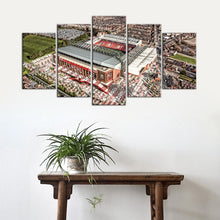 Load image into Gallery viewer, Liverpool F.C. Stadium Areal 5 Pieces Wall Painting Canvas