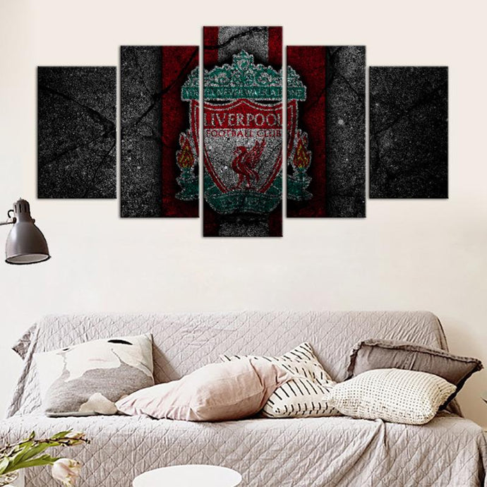 Liverpool F.C. Rock Style 5 Pieces Wall Painting Canvas