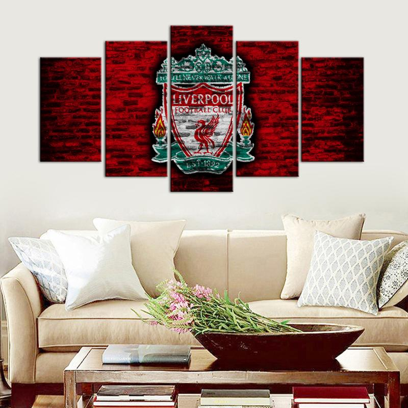Liverpool F.C. Old Wall 5 Pieces Wall Painting Canvas
