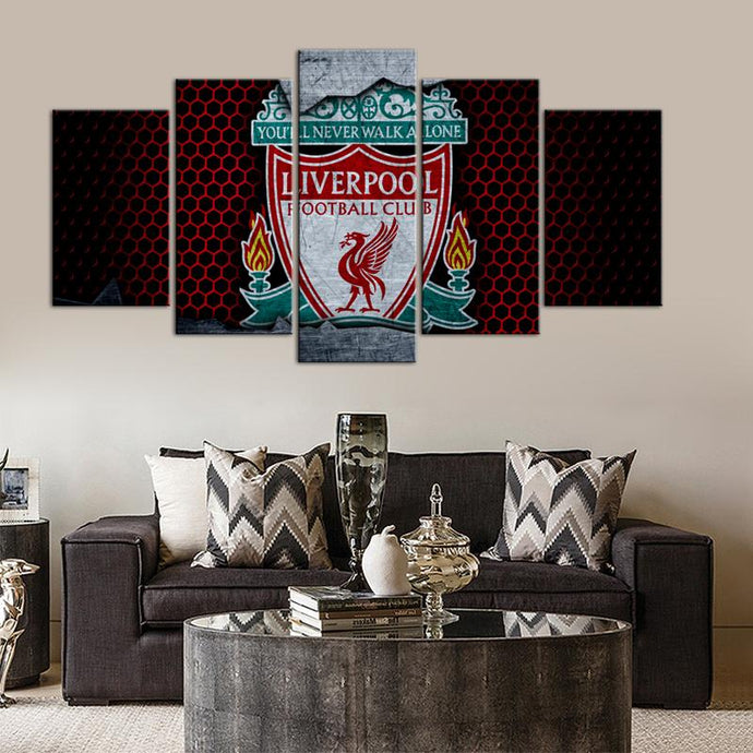 Liverpool F.C. Metal Style 5 Pieces Wall Painting Canvas