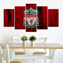 Load image into Gallery viewer, Liverpool F.C. Rough Look 5 Pieces Wall Painting Canvas