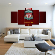 Load image into Gallery viewer, Liverpool F.C. Leather Look 5 Pieces Wall Painting Canvas
