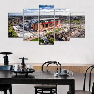 Liverpool F.C. Stadium Surround 5 Pieces Wall Painting Canvas