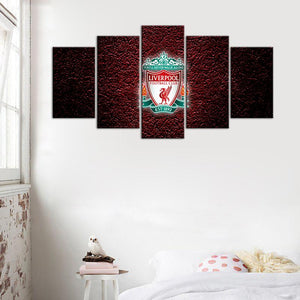 Liverpool F.C. Rock on Canvas 5 Pieces Wall Painting Canvas
