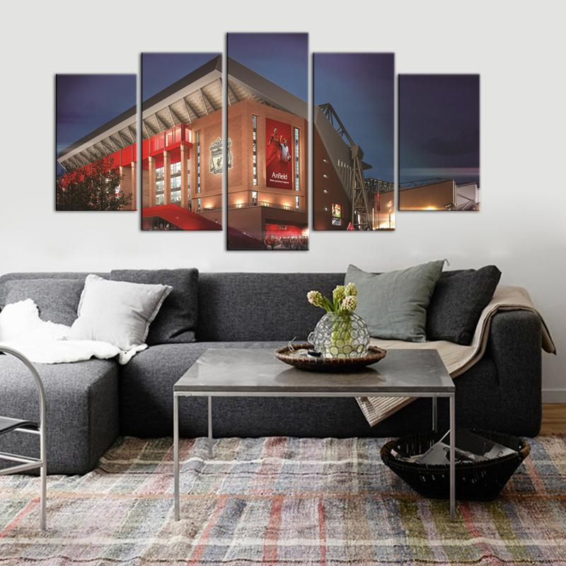 Liverpool F.C. Stadium 5 Pieces Wall Painting Canvas