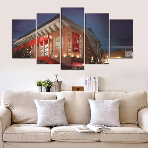 Liverpool F.C. Stadium Night 5 Pieces Wall Painting Canvas