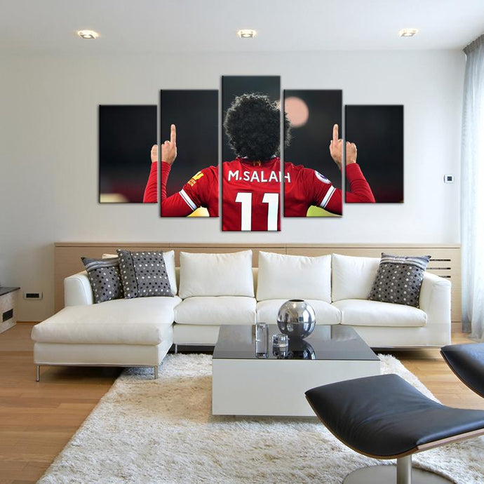 Mohamed Salah Liverpool F.C. 5 Pieces Wall Painting Canvas