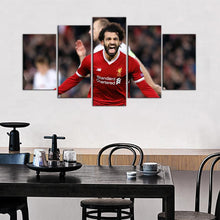 Load image into Gallery viewer, Mohamed Salah Liverpool F.C. 5 Pieces Wall Painting Canvas
