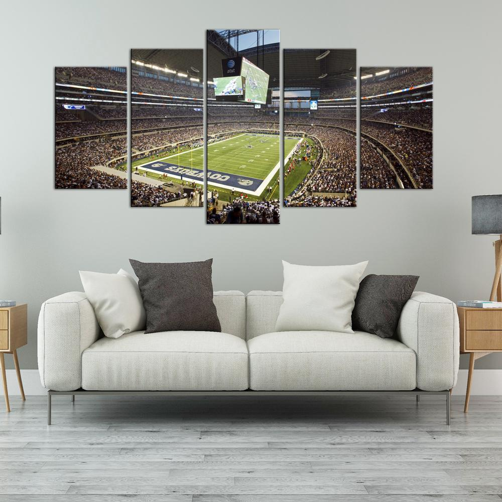Dallas Cowboys Stadium 5 Pieces Painting Canvas