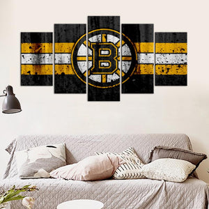 Boston Bruins Rough Look Canvas