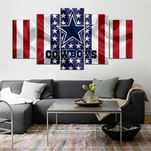 Load image into Gallery viewer, Dallas Cowboys American Flag 5 Pieces Painting Canvas