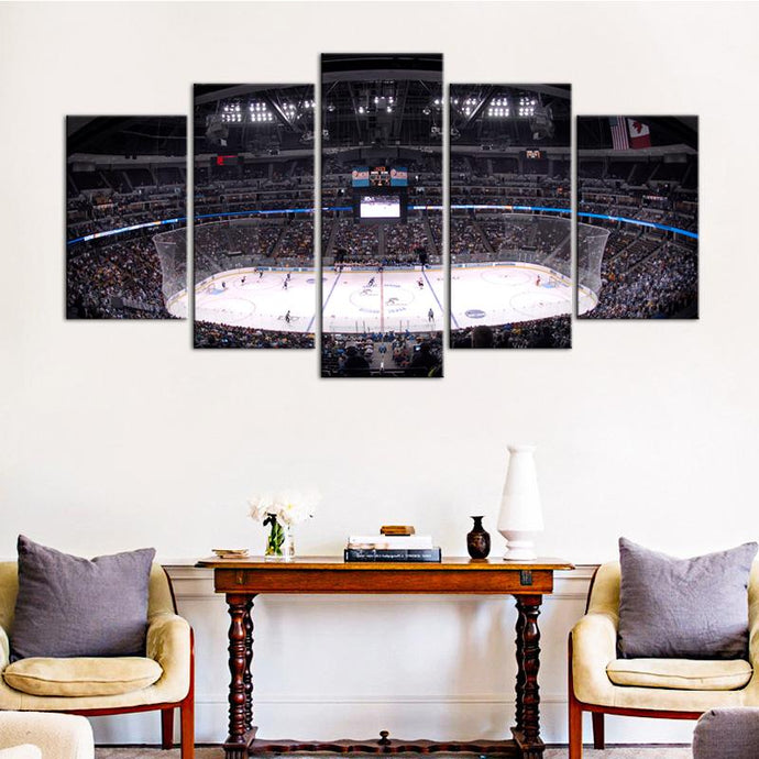 Boston Bruins Stadium 5 Pieces Painting Canvas