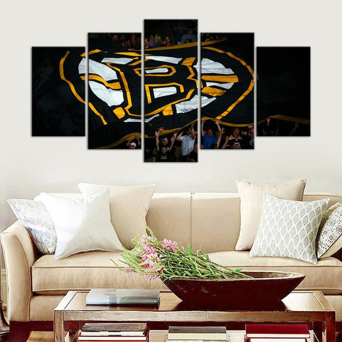 Boston Bruins Big Flag Cheering Canvas