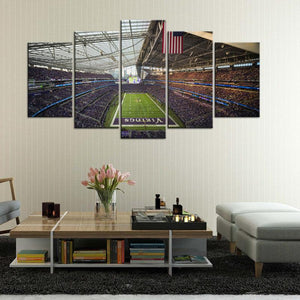 Minnesota Vikings Stadium 5 Pieces Wall Painting Canvas