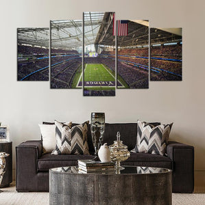 Minnesota Vikings Stadium Canvas 1