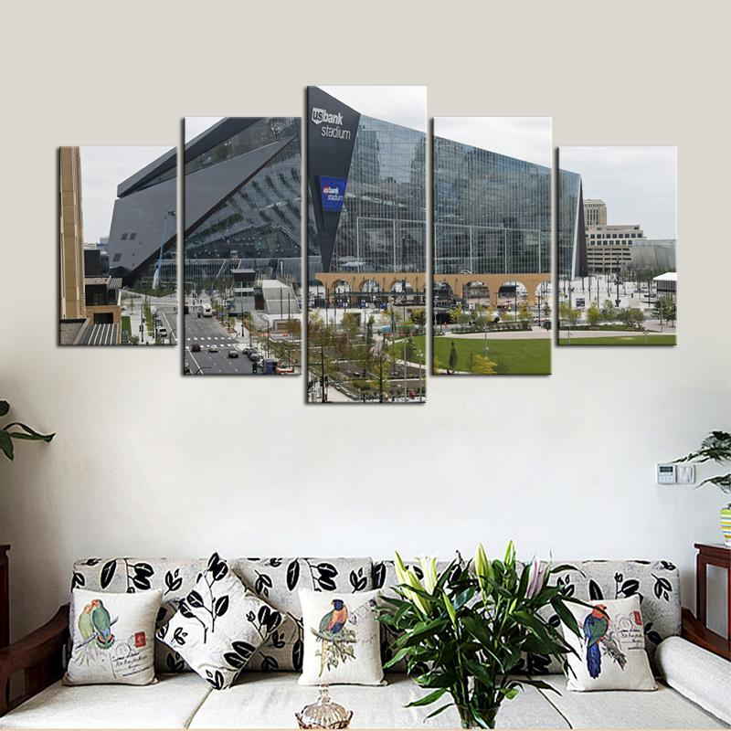 Minnesota Vikings US Bank Stadium 5 Pieces Wall Painting Canvas